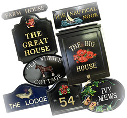 Enhance your home with a traditional sign or post box