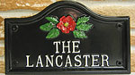 example of a Lancaster house sign