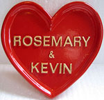 special heart shape gift plaque example